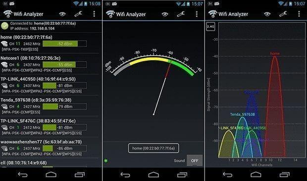 تطبيق wifi analyzer لقياس قوة الواى فاى