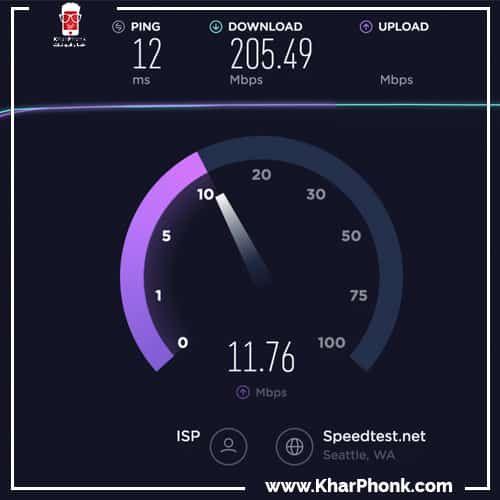 قياس سرعة الانترنت الحقيقية بالميجا بإستعمال تست نت