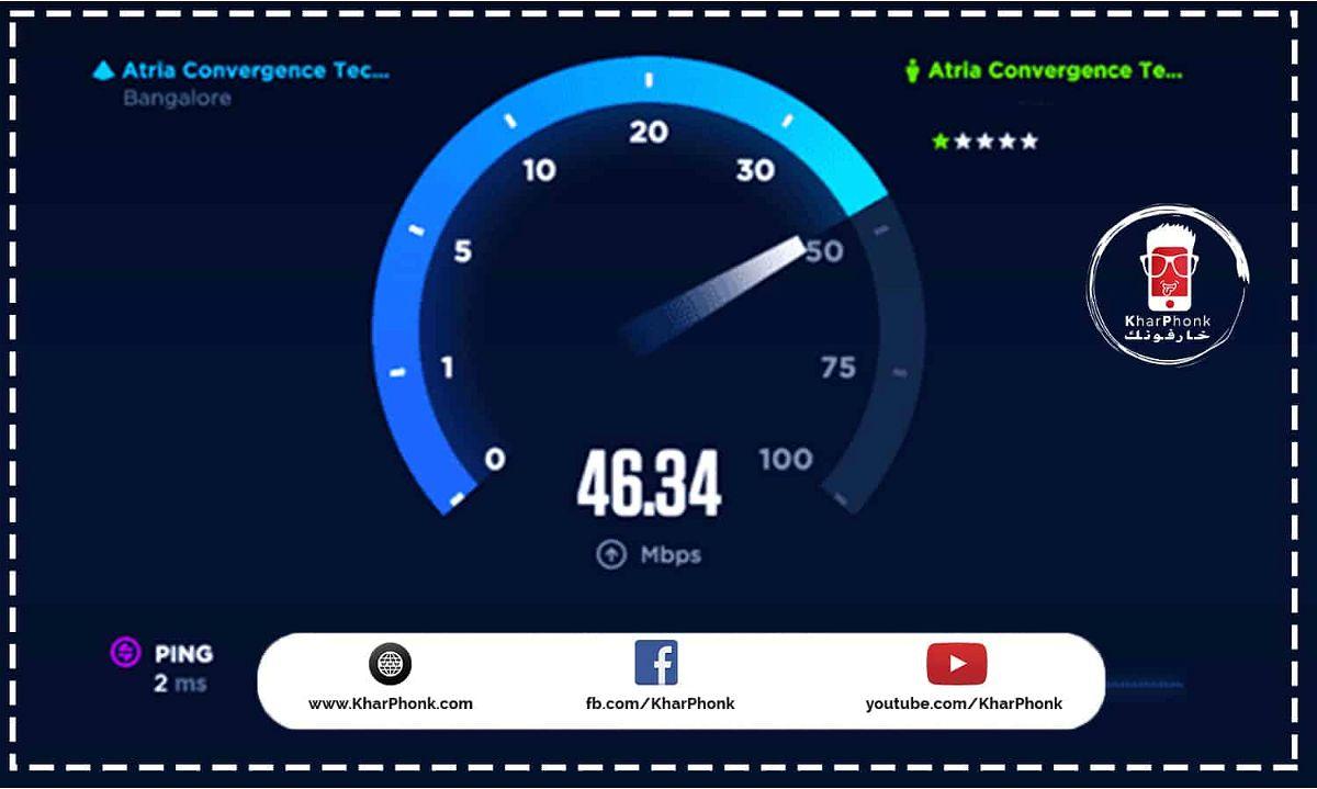 تست نت speedTest – الطريقة الصحيحة لـ قياس سرعة النت الحقيقية بالميجا