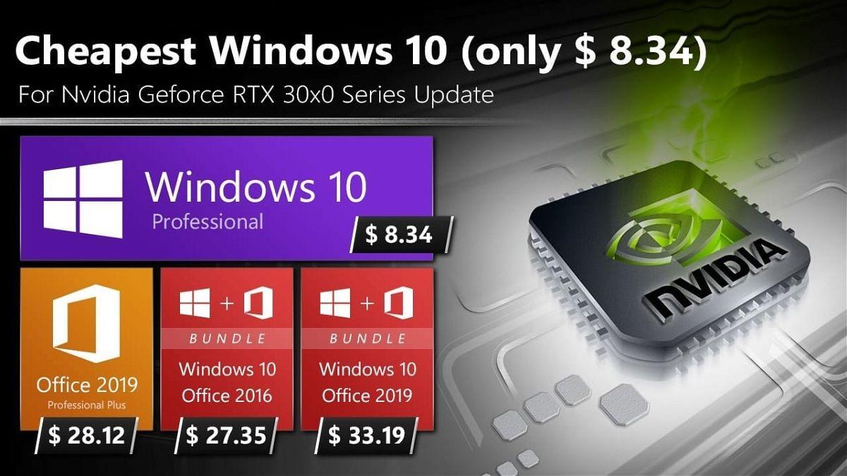 معالج RTX 30X0 من Nvidia لماذا لا يتم تحديث ال GPU مع أرخص ويندوز 10 بحوالي 8 دولارات؟