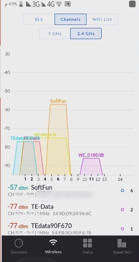 تسريع الانترنت من خلال اختيار افضل قناة واي فاي وافضل band width