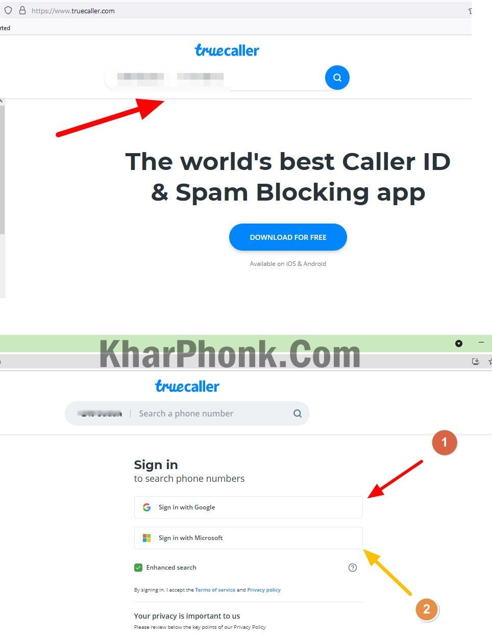 شرح موقع truecaller لمعرفة صاحب الرقم المتصل