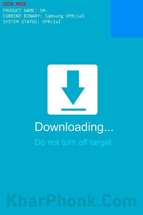 الدخول إلي وضع download mode قبل تفليش الروم للهواتف