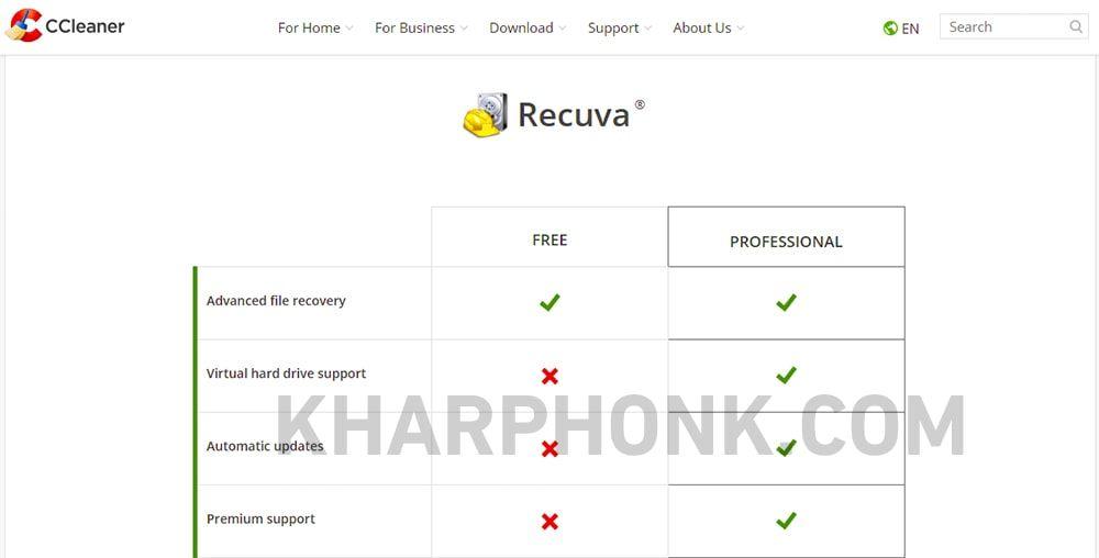 برنامج Recuva - استرجاع الفيديوهات المحذوفة من الكمبيوتر