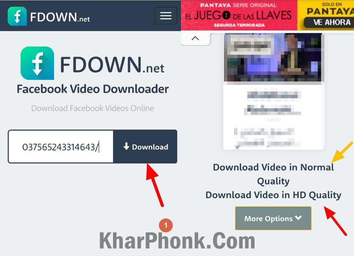 تحميل فيديو من فيسبوك من خلال fdown