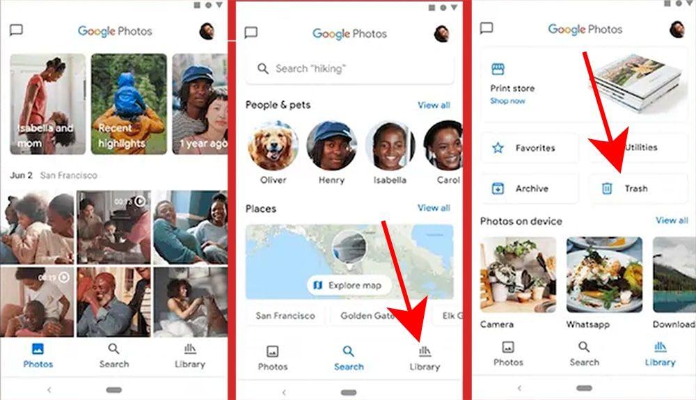 خطوات استرجاع الصور المحذوفة من صور جوجل من الهاتف
