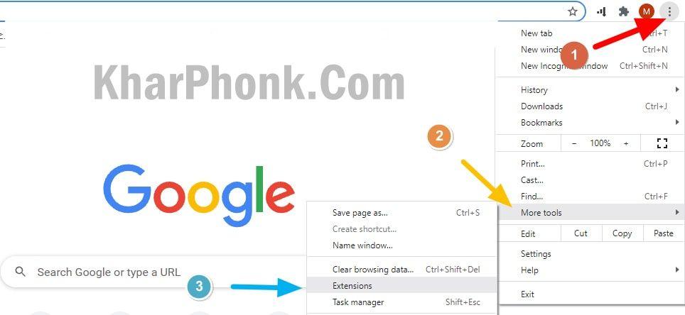 حل مشكلة هذا الموقع لا يمكن الوصول إليه من خلال إزالة الإضافات من متصفح جوجل كروم